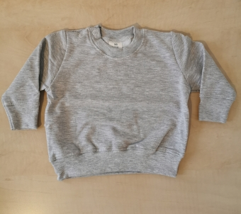 Grijze basic sweater 50/56