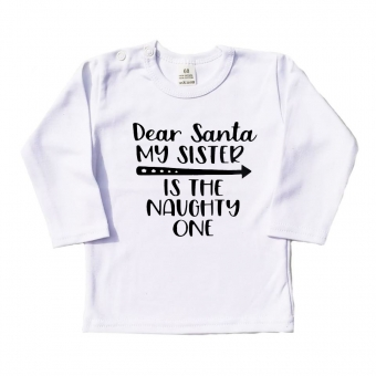 Longsleeve - Dear Santa my sister is the naughty one