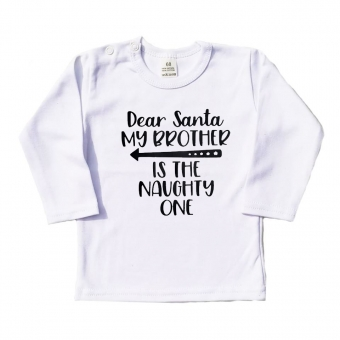 Longsleeve - Dear Santa my brother is the naughty one