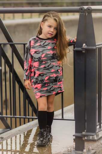 Pocket Dress Camo Neon